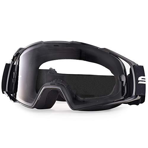 Snowledge Motorradbrille Herren OTG Motorrad Windichte Brille MX Sport Sonnenbrille UV400 Schutzbrille Winddicht Staubdicht Kratzfest für Brillenträger