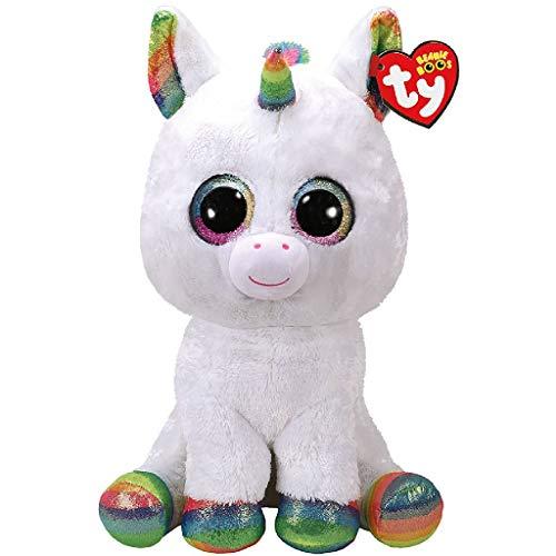 "Beanie Boo Unicorn - Pixy, Unicorn - White/Multicoloured - 42cm 16"""