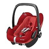 Maxi-Cosi Pebble Plus Babyschale, sicherer Gruppe 0+ i-Size Kindersitz (0-13 kg), nutzbar ab der Geburt bis ca. 12 Monate, passend für FamilyFix One Basisstation, nomad red
