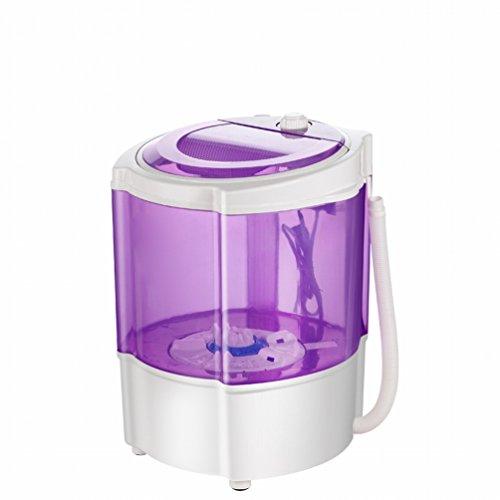 GCCI Mini - Waschmaschine Baby Kinder 's Kleine Unterw?sche Waschmaschine Halbautomatische Einzelrohr,Lila
