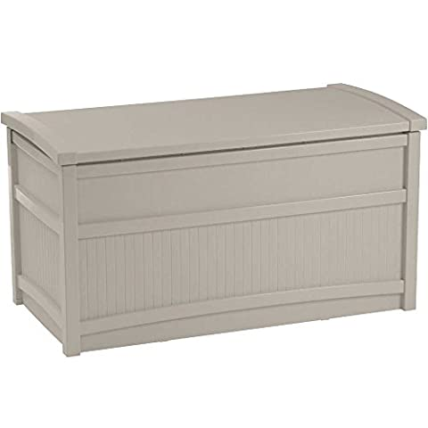 Deck Box, Resin, 41w x 21d x 22h, 50-gallon,