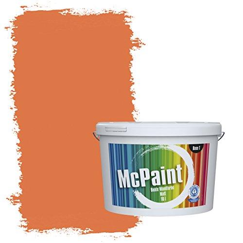 McPaint Bunte Wandfarbe  Aprikose - 2,5 Liter Weitere Orange Farbtöne Erhältlich - Weitere Größen Verfügbar