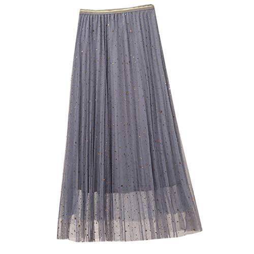 Sonderverkauf Mode Luxus Damen Taille Sommer Faltenrock Personalisiert Style Sparkle Lady Tüllrock Charakteristisch Die Freisetzung von ()