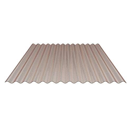 Lichtplatte | Wellplatte | Lichtwellplatte | Profil 76/18 | Material Polycarbonat | Breite 1045 mm | Stärke 2,8 mm | Farbe Bronze | Wabenstruktur