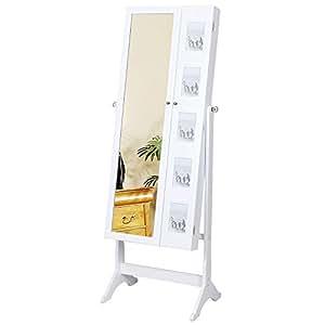 Songmics 154 cm armadio specchio portagioie gioielli a for Armadio amazon