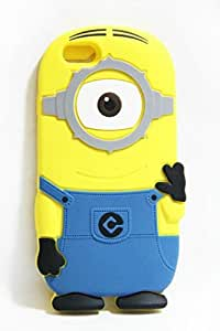Walsoon 3D Cute Cartoon Despicable Me Minion Soft Silicone Case Cover for Apple iphone 6 4.7 Inch (Light Blue 1 Eye)