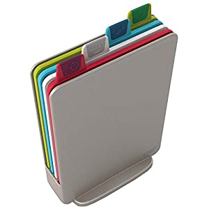 Joseph Joseph Index Chopping Board Set, Mini - Silver, Set of 4