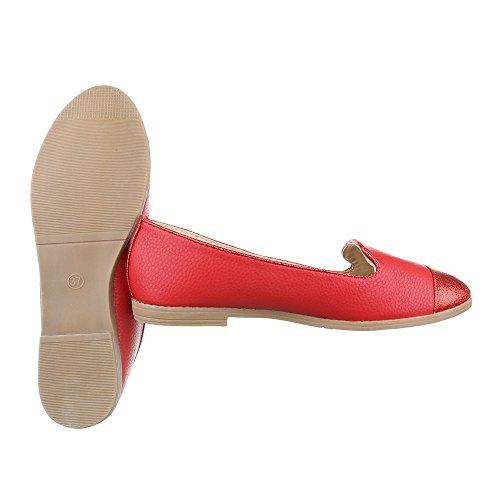 Ital-Design , Mocassins pour femme Rouge
