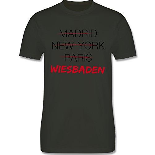 Städte - Weltstadt Wiesbaden - Herren Premium T-Shirt Army Grün