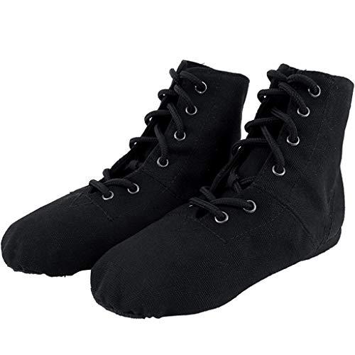 Stiefel Kinder weiche Bottom Dance Schuhe Erwachsene Schuhe Frauen Modern Dance Schuhe Ballettschuhe (Farbe : Schwarz, größe : 43 EU) ()