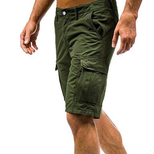 Sanfashion herren shorts pantaloncini - relax - uomo verde militare xl