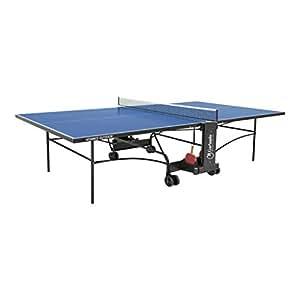 Garlando advance outdoor table de ping pong avec roues pour ext rieur bleu - Roue pour table de ping pong ...