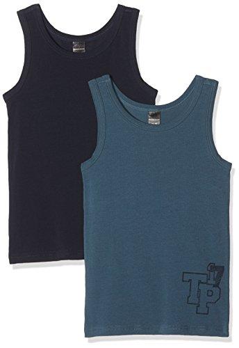 Schiesser Jungen Unterhemd Multipack 2Pack Tanks, 2er Pack, Mehrfarbig (Sortiert 1 901), 164 (Herstellergröße: M)