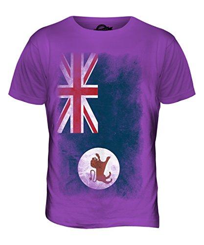 CandyMix Tasmanien Verblichen Flagge Herren T Shirt Violett