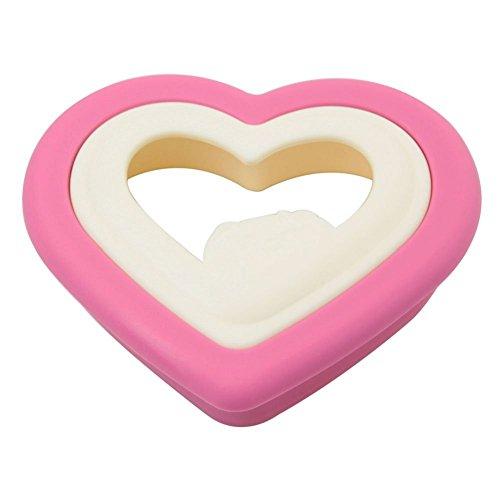 philna121Herz Sandwich Maker Brot Form Cutter (Pink Weiß)