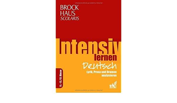 Brockhaus Scolaris Intensiv Lernen Deutsch 11 1213 Klasse Lyrik