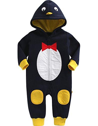 Vaenait Baby Maedchen Jungen Winter Body Schneeanzug Overal Hoody Romper Penguin L