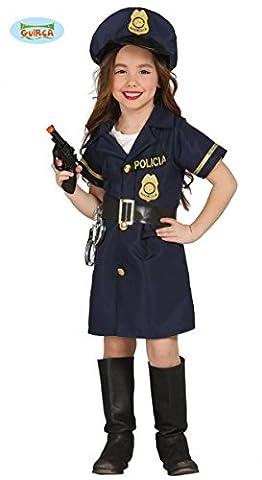 Kinderkostüm Polizistin Josy Mädchen Kleid blau Polizei Uniform Fasching Kinder