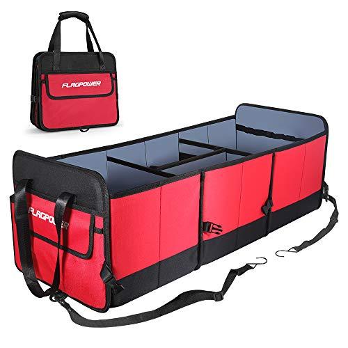 546477ed FLAGPOWER Auto Kofferraumtasche mit Befestigungsgurte,Universal Faltbare  Auto Kofferraum Organizer KFZ Aufbewahrungstasche rutschfest  Kofferraumtasche ...