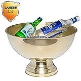 Seau à Glace Seau à Champagne Glaçons Vin Bouteille Paroi En Acier Inoxydable 13.5 L Avec Pince Anse intérieur/extérieur/Bar/Célébration/Barbecue/Pique-Nique SYHZHY