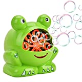 Dapper Kids Bubble Machine Frog, Automatic Bubble Blowing Machine for Kids, AA Battery Powered, Colourful Froggy, High Output Automatic Bubble Blower, Ideal Birthday Toy for Kids Boys Girls Children …