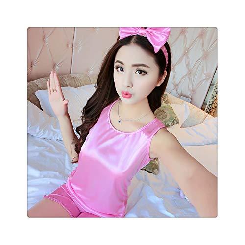 FJLOKE& Long Sleeved Ladies Pajamas Set Cotton Pyjamas for Women Pijama Mujer Floral Print Sleepwear Homewear Nightgown Asia/Tag S-XXL Duan pink L