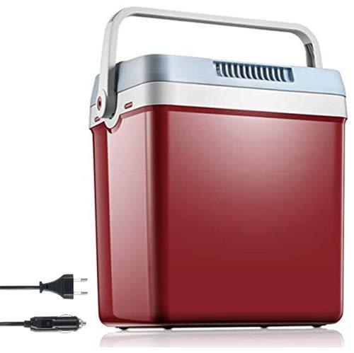 Frigo Portatile Termoelettrico Mini Frigo per Auto e Casa 26 L Frigorifero Elettrico Freddo e Caldo con Maniglia di Bloccaggio Automatica per Viaggio