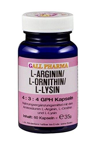 Gall Pharma L-Arginin/L-Ornithin/L-Lysin 4:3:4 GPH Kapseln 60 Stück
