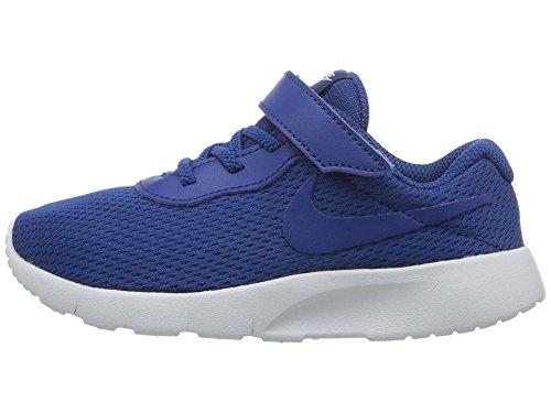 NIKE Boy's Tanjun (TDV) Running Shoes (5 Toddler M, Gym Blue/Gym Blue)