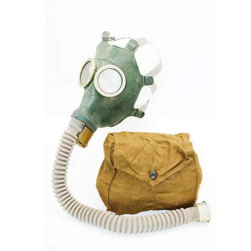 OldShop Gasmaske Replica Gp-4 Russische UDSSR Militärgummi mit allem Zubehör: Maske, Beutel, Filter und Flasche, kleine Membranen