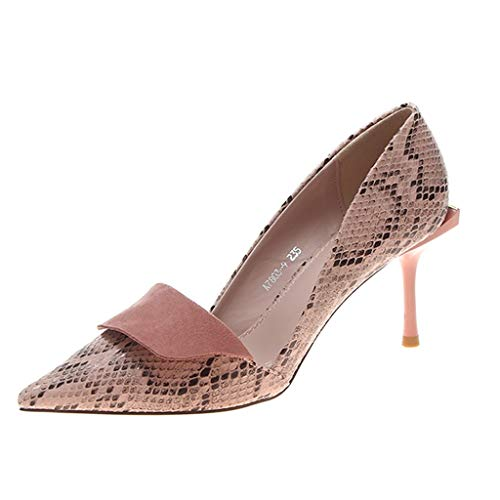 ┃BYEEEt┃ Scarpe col Tacco Donna - Classico High Heels Scarpe da Donna - Serpentina Tacco a Spillo - 7CM Scarpe Do