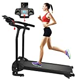 Fitnessclub Folding Electric Motorised 1100 W Treadmill Walking Running Machine Adjustable Incline Fitness