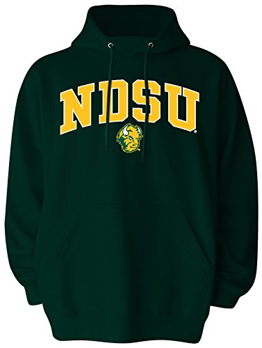 Old Varsity Marke Herren North Dakota State Big Pullover Kapuze, Herren, Big Mens Pullover Hood, waldgrün