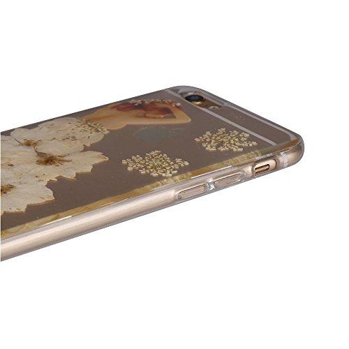 """iPhone 6sPlus Schutzhülle, iPhone 6Plus Soft TPU Handytasche, CLTPY Modisch Durchsichtige Rückschale im Getrocknete Blumenart, [Stoßdämpfung] & [Kratzfeste] Full Body Case für 5.5"""" Apple iPhone 6Plus/ Floral 30"""