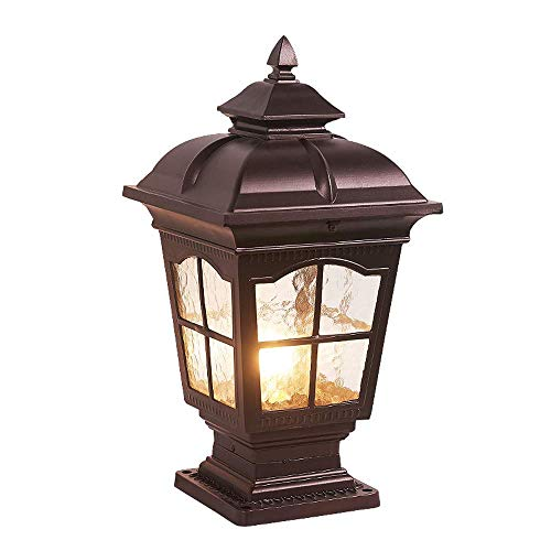 Glühlampe Path Light (Zhang Yan ZYY Spezialitätenkaffee Gold Garden Post Light Poller Victorian Patio Path Beleuchtung E27 Pole Säule Laterne Licht Straßenlaterne IP55 (Größe: H: 46CM))