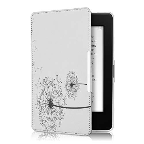 kwmobile Amazon Kindle Paperwhite Hülle - Kunstleder eReader Schutzhülle Cover Case für Amazon Kindle Paperwhite (für Modelle bis 2017) - Pusteblume Design Schwarz Weiß
