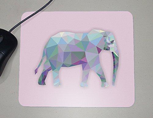 Origami - Elephant - Animals - Novelty Gift - Custom Name Mouse Pad (Elephant Apparel)