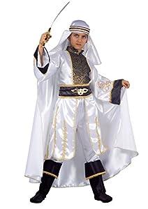 FIORI PAOLO 27512-Príncipe del Desierto disfraz niño 9-11 anni blanco/negro