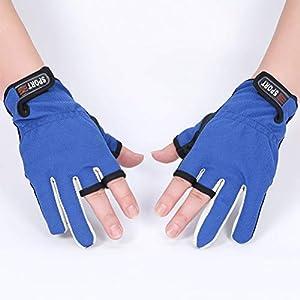 Mekta Unisex atmungsaktive rutschfeste Sonnenschutz Handschuhe Anglerhandschuhe,Fingerlose Fischerhandschuhe rutschfeste Atmungsaktive Handschuhe Mit Klettverschluss