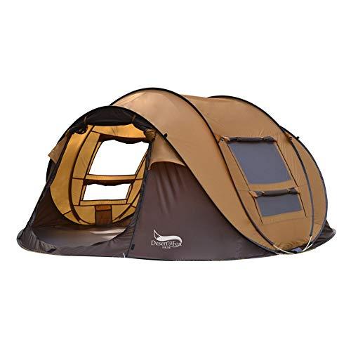 JIANG Camping Zelt, Outdoor Automatik Zelt 3-4 Personen Speed   Open Free Um EIN Bootskonto zu errichten Mehrpersonen Camping Park Zelt, Regenschutz Sonnenschutz Installation Bequem,A
