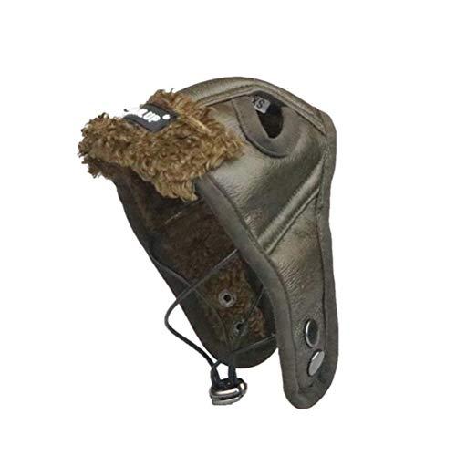 POPETPOP Cappello di Pilota in Pelle da Invernali per Cani e Gatti S
