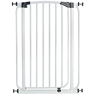 Milo & Misty Extra Tall 100cm Pet Gate with 72-82cm High Pressure Fit - White