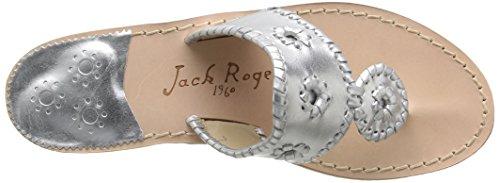 Jack Rogers Hamptons, Sandales femme silver