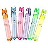 LAAT Mini Stifte-Textmarker-Süßer Ninja Permanent der Marker SCHREIBWAREN-Marker Stifte 6 Farbe (1)