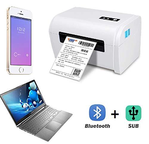 QWERTOUY Bluetooth Thermo-Etikettendrucker 4-Zoll-Thermodrucker für die Adress Barcode Maker mit USB/Bluetooth Auto Peeling,A