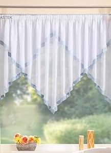 kuvertstore gardine mit taftborte 145x600 hellblau 20321 k che haushalt. Black Bedroom Furniture Sets. Home Design Ideas