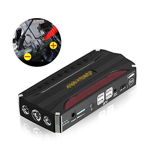 JUNHAO 600A12V Auto Notstart Netzteil Intelligenter Schutz Universal Netzteil Display USB mit Beleuchtung (Automobil-digital-kompass)