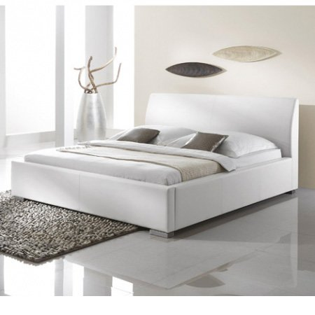 Unbekannt Meise Möbel Polsterbett Doppelbett Alto Comfort 180x200 cm weiss
