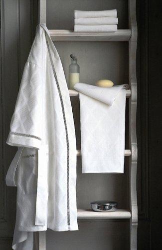 Preisvergleich Produktbild Le Jacquard Francais - Santorin - Waschhandschuh - Blanc - 16 x 20 cm