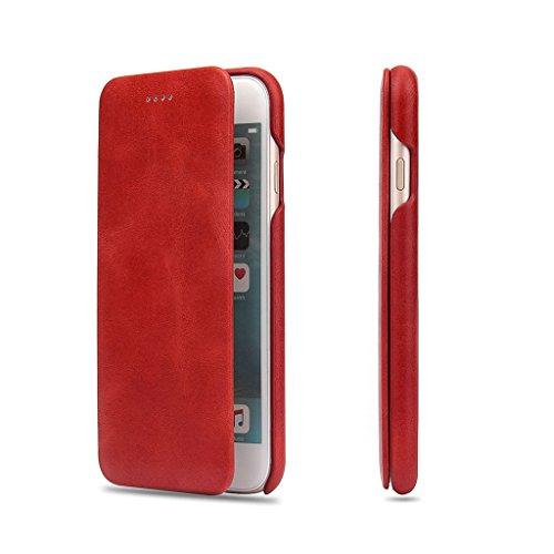 iPhone 6S/6 Véritable Étui en Cuir,Careynoce Luxe Coque en Cuir Fait Main pour Apple iPhone 6S iPhone 6 (4.7 pouces) -- noir M03